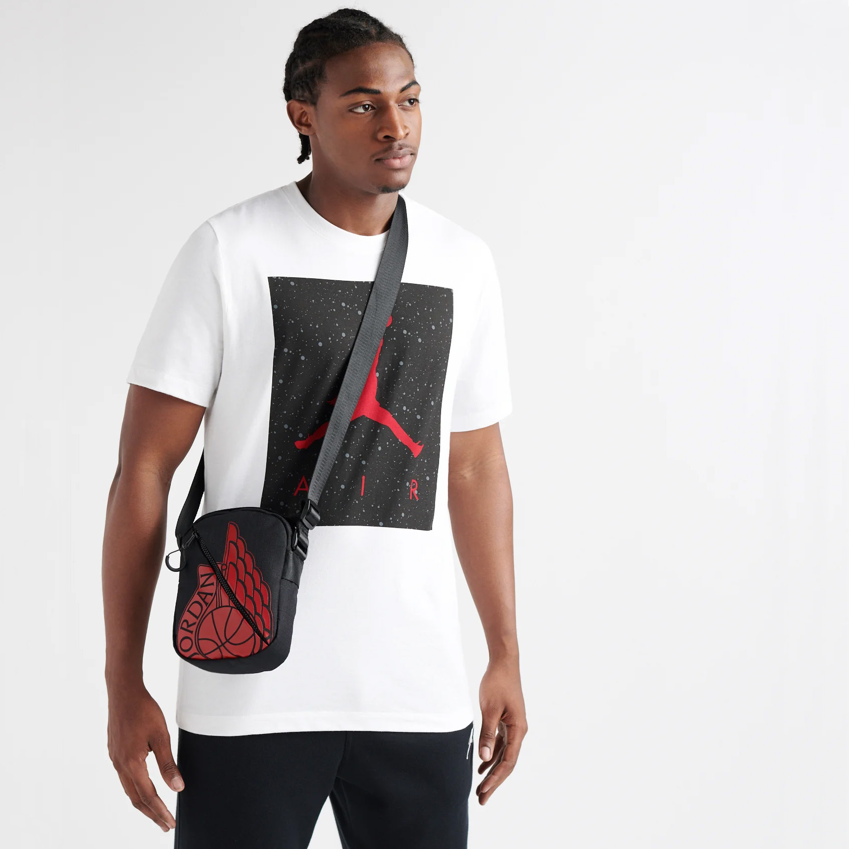 New Nike Air Jordan Mens Womens Wings Festival Shoulder Man Bag Pouch 9A0198 R78 | eBay