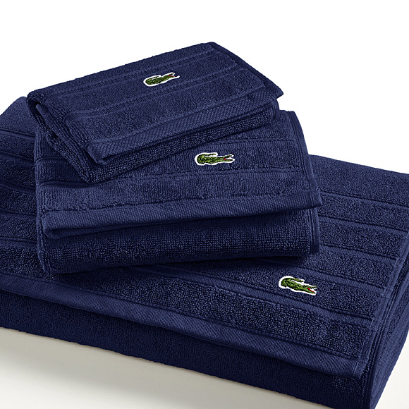 lacoste 2 pieces serviettes de bain toilette draps serviette drap ebay. Black Bedroom Furniture Sets. Home Design Ideas