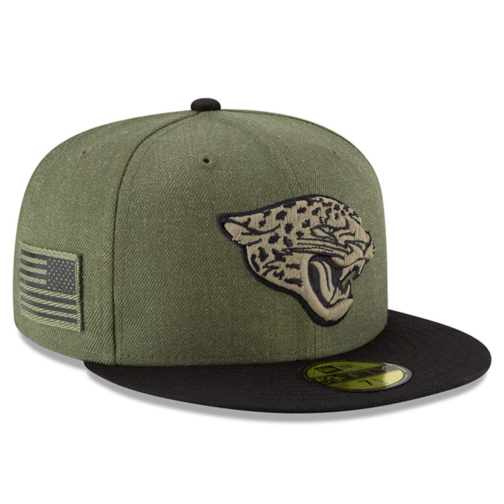 c6680ae48524d Details about NEW ERA Jacksonville Jaguars Salute to Service 59FIFTY Fitted  Hat Cap NFL