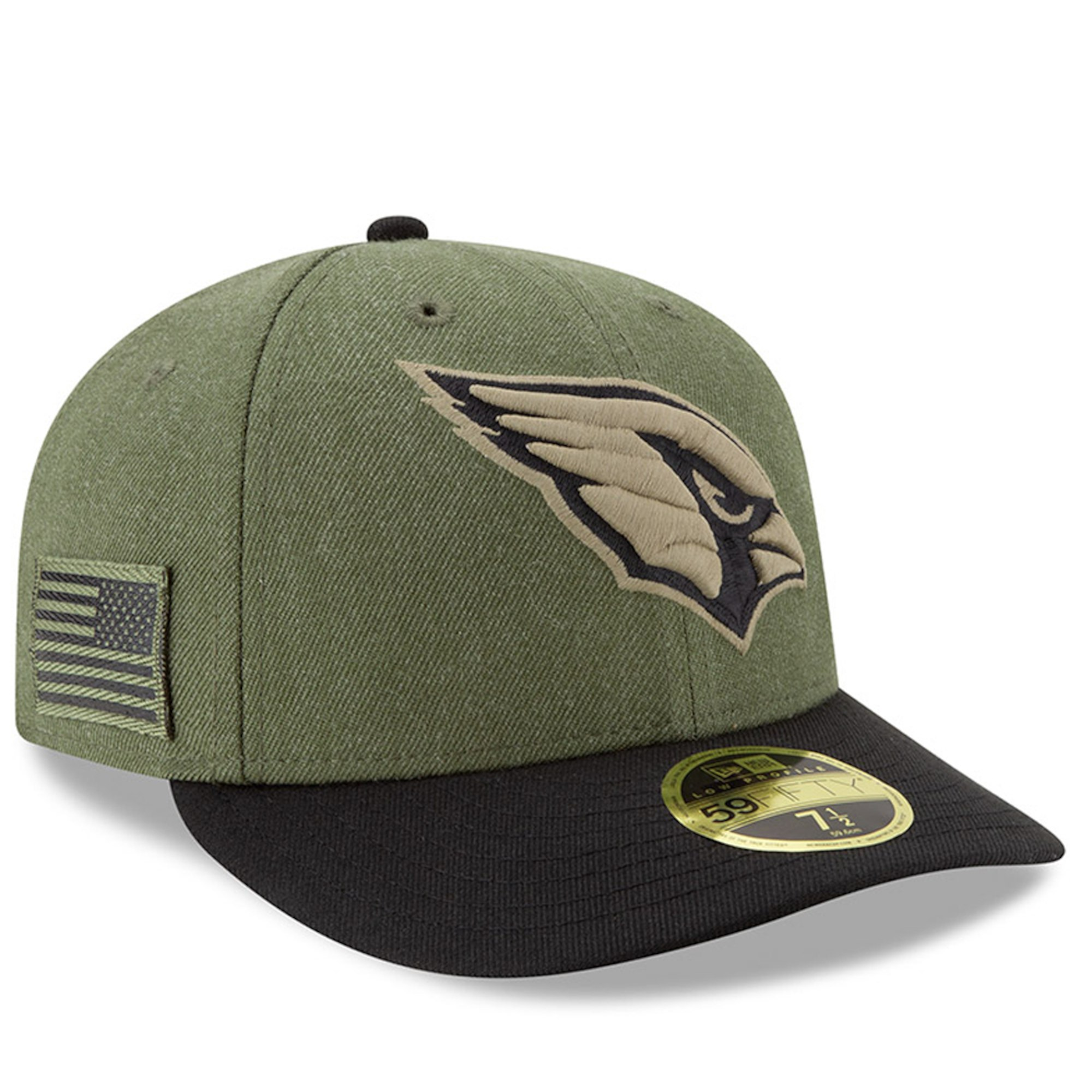 ca6eaff3d Details about NEW ERA Arizona Cardinals Salute to Service 59FIFTY Fitted  Low Profile Hat Cap