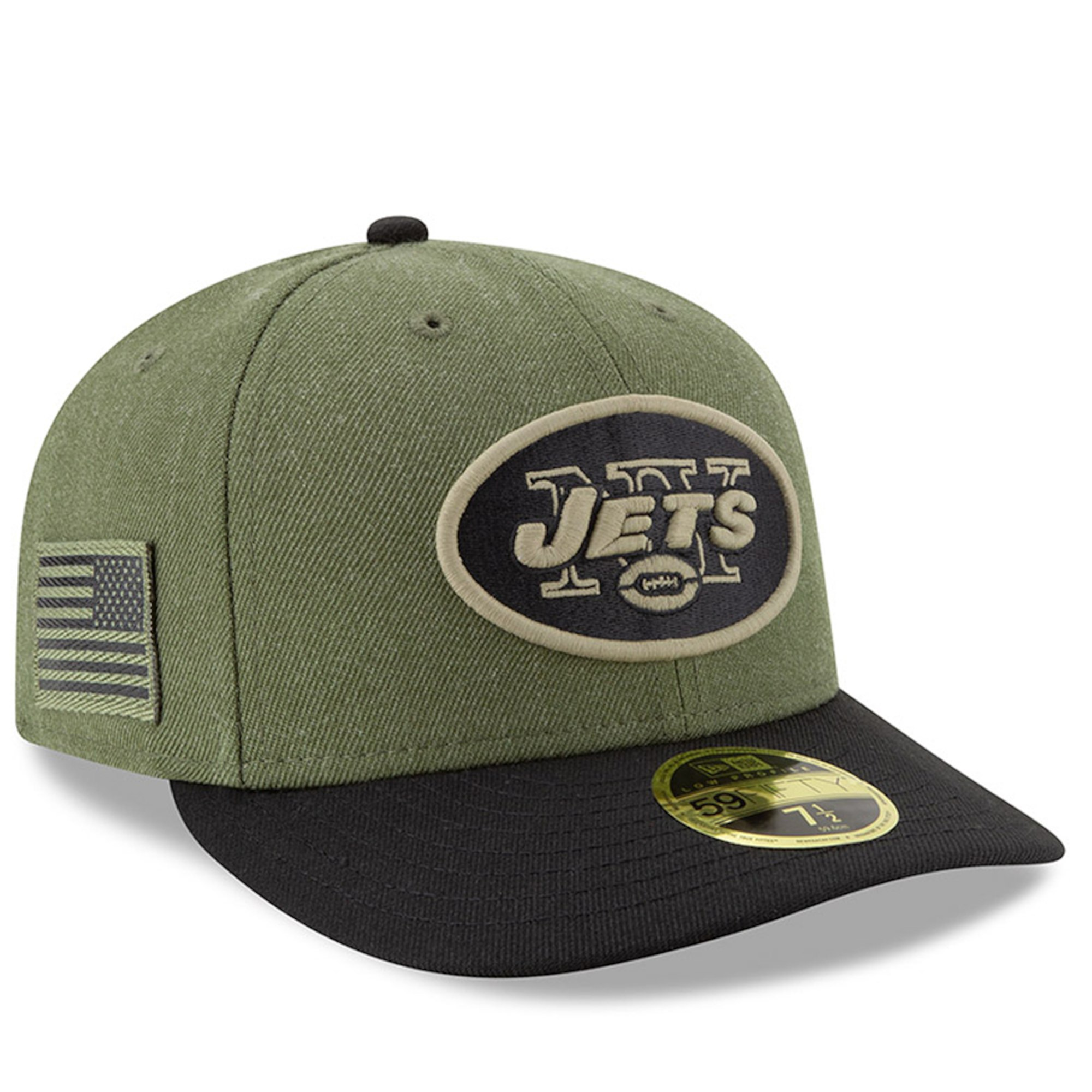 d3fd7ee3c51 Details about NEW ERA New York Jets Salute to Service 59FIFTY Fitted Low  Profile Hat Cap NFL