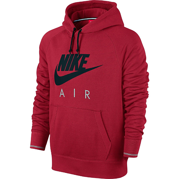 hoodie nike aw77 air pullover red. Black Bedroom Furniture Sets. Home Design Ideas