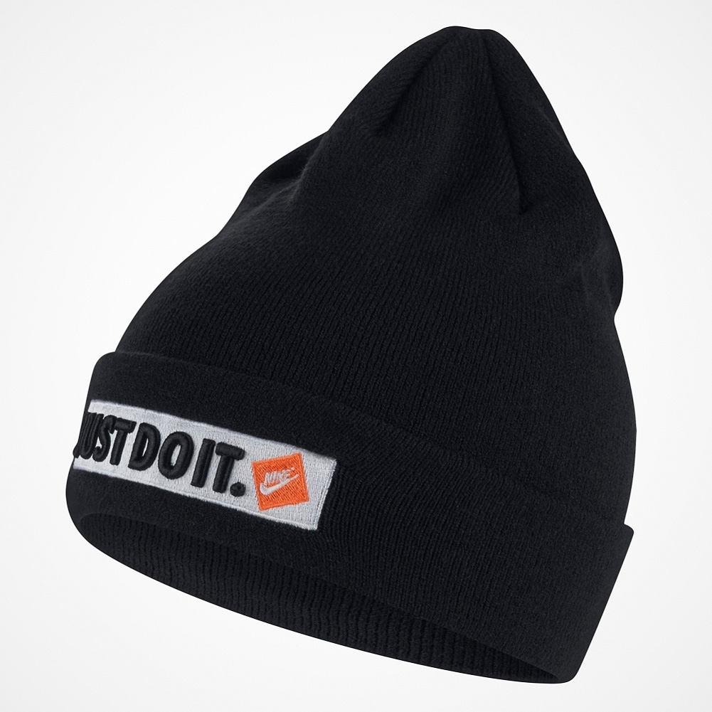 85c84392bd2 Details about NIKE JDI Just do It Beanie Hat Cap Ski Winter Running One  Size Adult Black