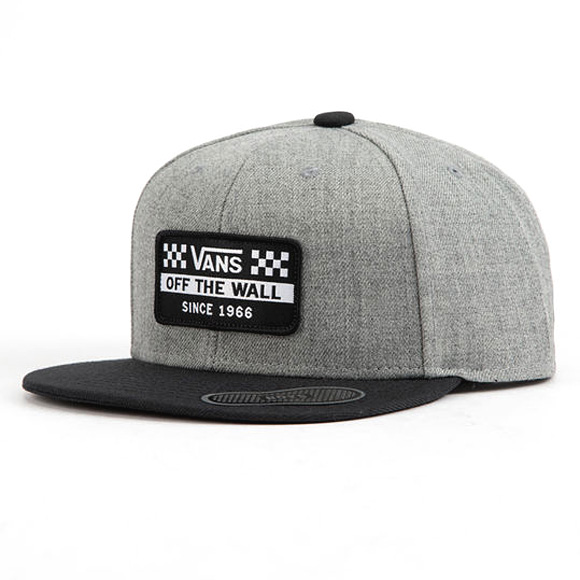 64ea2bec9 Details about VANS Hickam hat cap Snapback logo Skate Surf trucker Grey -  SAME DAY SHIP