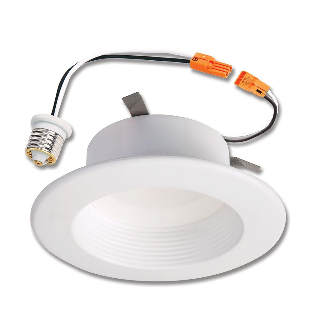 Halo rl 4 in white led recessed ceiling light fixture retrofit categories mozeypictures Image collections